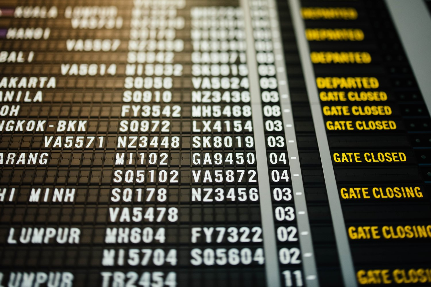The days of airport boards like this are over. (Photo by chuttersnap on Unsplash.com)
