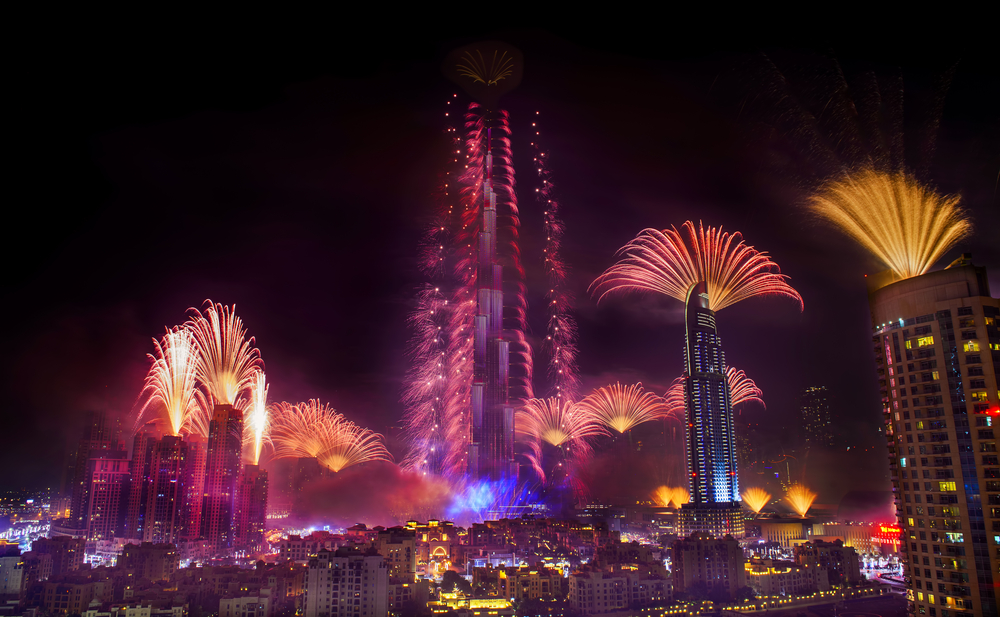 dubai new years fireworks display