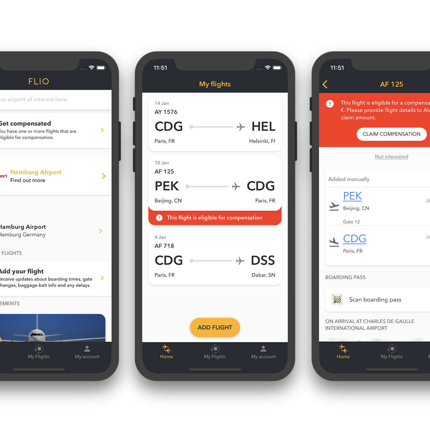 FLIO introduces flight compensation