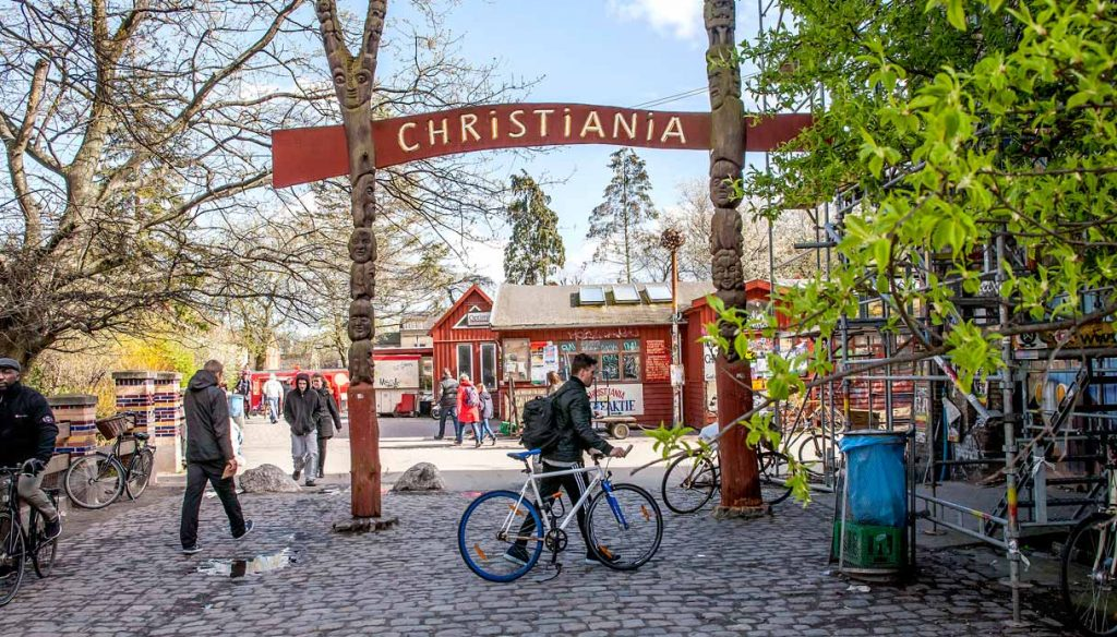 Entrance of Christiania
