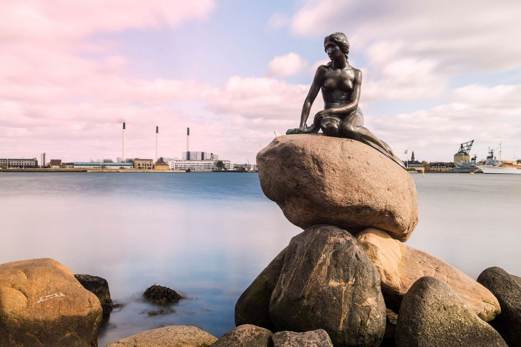 Statue of the Little Mermaid, one of Copenhagen's most famous attractions