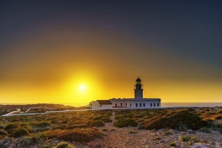 Sunset from the Cap de Cavalleria lighthouse in Punta Nati