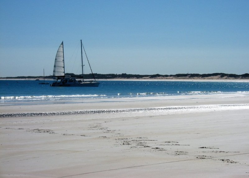 White beaches on the coast of the city of Broome